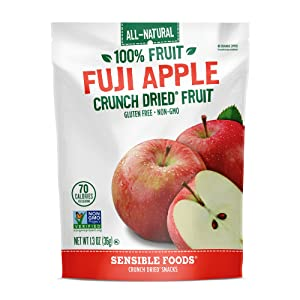 Sensible Foods Dried Snacks, Fuji Apple, 1.3 Ounce (Pack of 12)