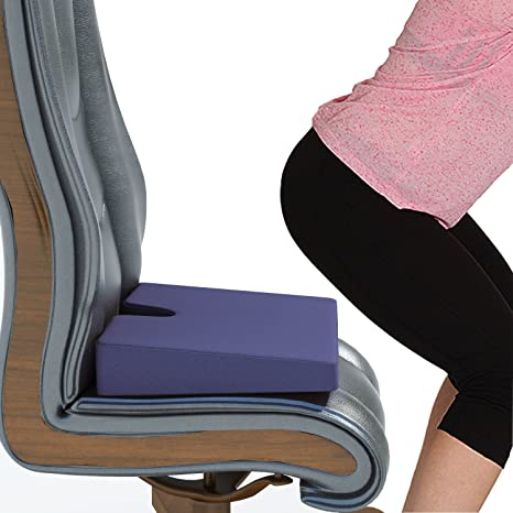 Relieve Wedge Orthopedic Pillow Tailbone Seat Cushion Coccyx Donut Premium Double Layered Foam