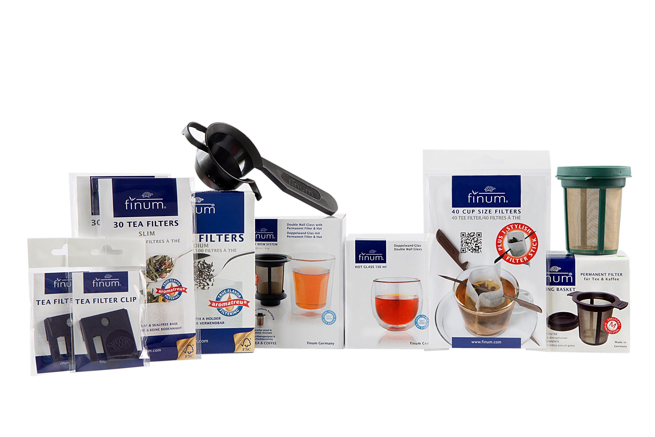 Finum Tea Accessories Sample Pack, Tea Filters, Brew Baskets