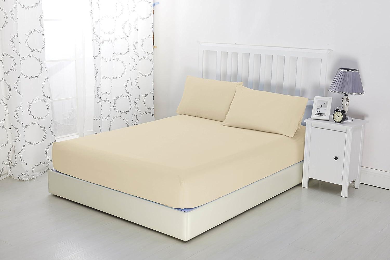Sonia Moer, lenzuolo con angoli elasticizzati in morbida microfibra, non si stira, elegante, Sky Blue, Doppio Sonia Linens Ltd