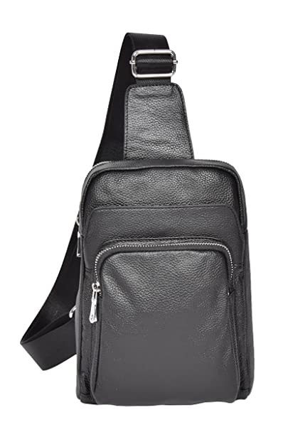 7adae4ec6c Womens Girls Real Black Leather Backpack Small Holster Shoulder Chest Bag -  A358