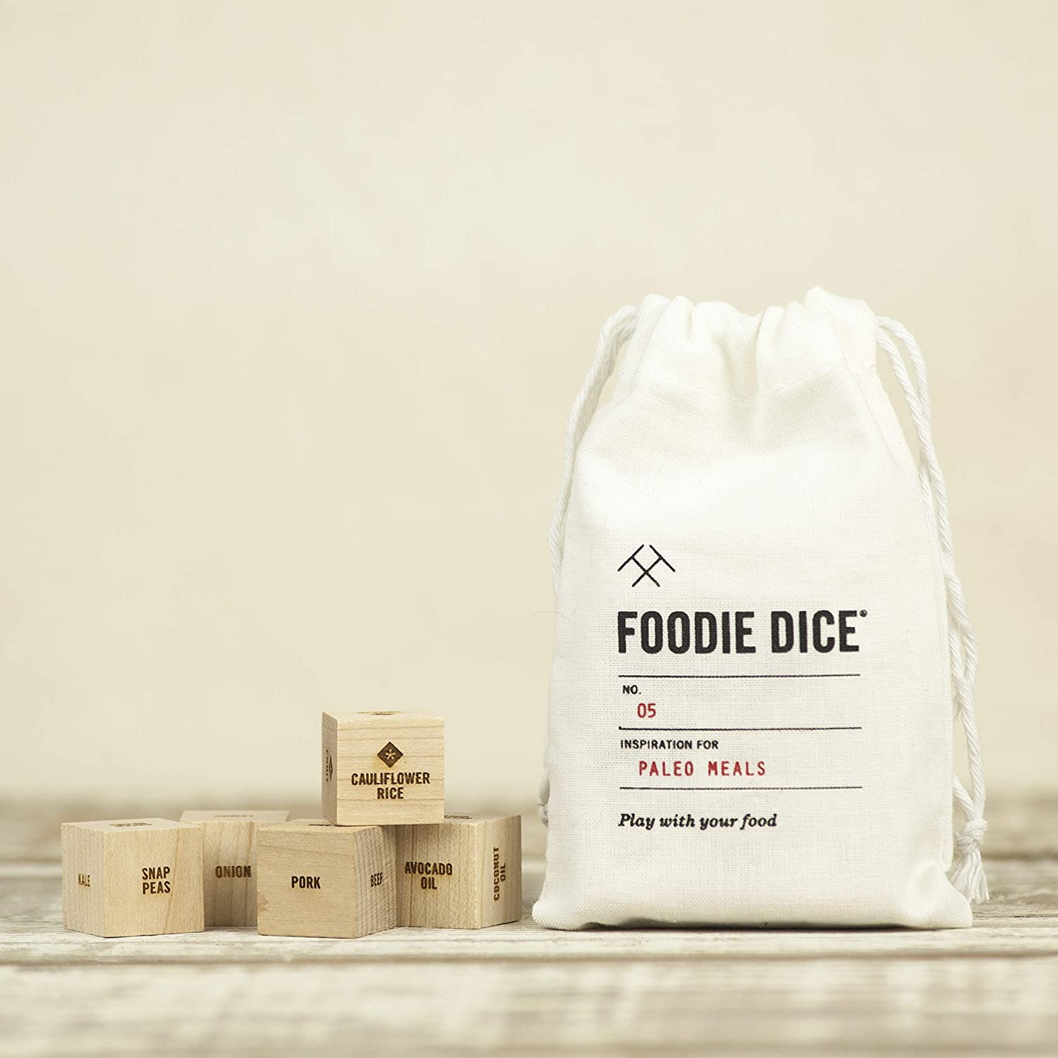 Foodie Dice No. 5 Paleo Meals // Gift for women, foodie, hostess, couples or cooking gift