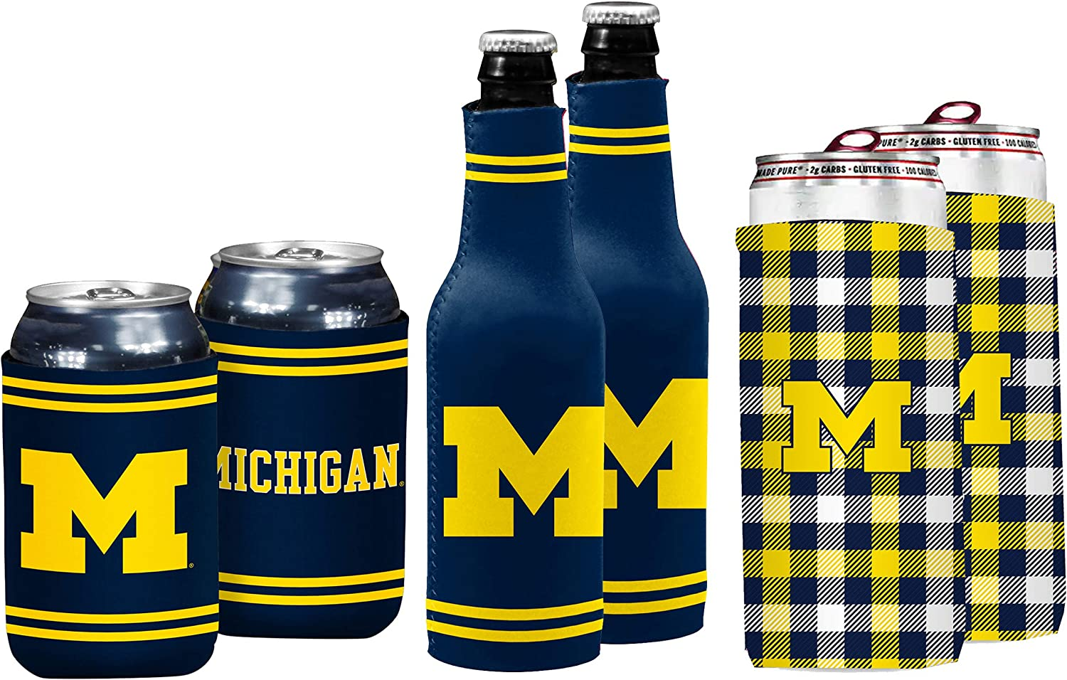 Logo Brands Officially Licensed NCAA Unisex Coozie Variety Pack, One Size, Team Color