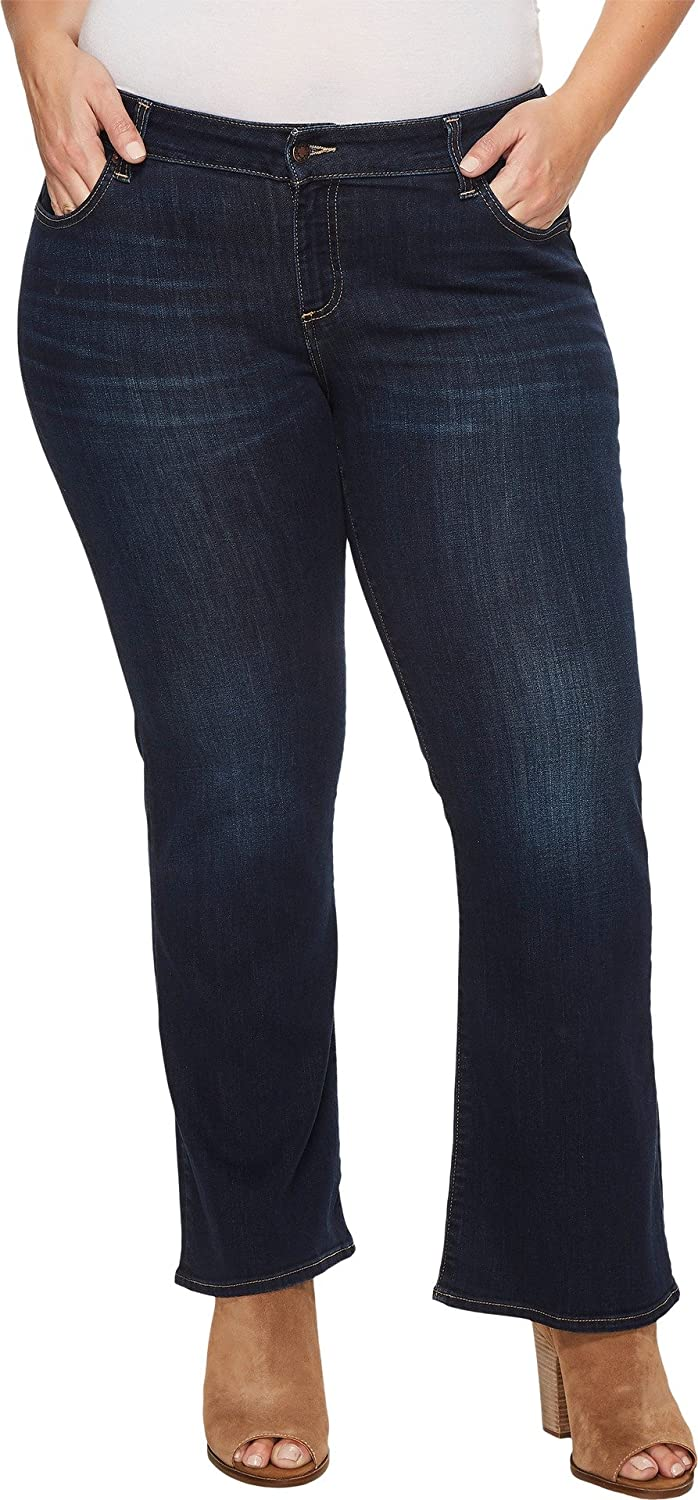 078bfae02c7 Lucky Brand Women s Plus Size Mid Rise Ginger Petite Boot Jean in Twilight  Blue at Amazon Women s Clothing store