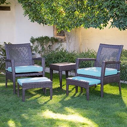 AURO Brisbane Outdoor Furniture | 5 Piece Lounge Chair U0026 Ottoman |  All Weather