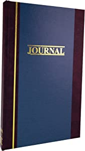 "Wilson Jones Account Journal, 11-3/4"" x 7-1/4"", Ruled, 300 Pages, 33 Lines, 2 Column, S300 (WS300-3JA), Blue"