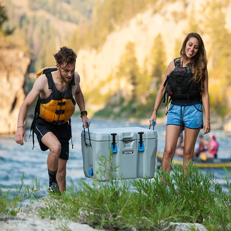 Eisbox Lifetime K/ühlbox K/ühlschrank Campingbox Eistruhe Cooler mit Tragegriffen //// Ideal f/ür die Aufbewahrung von kalten Getr/änken