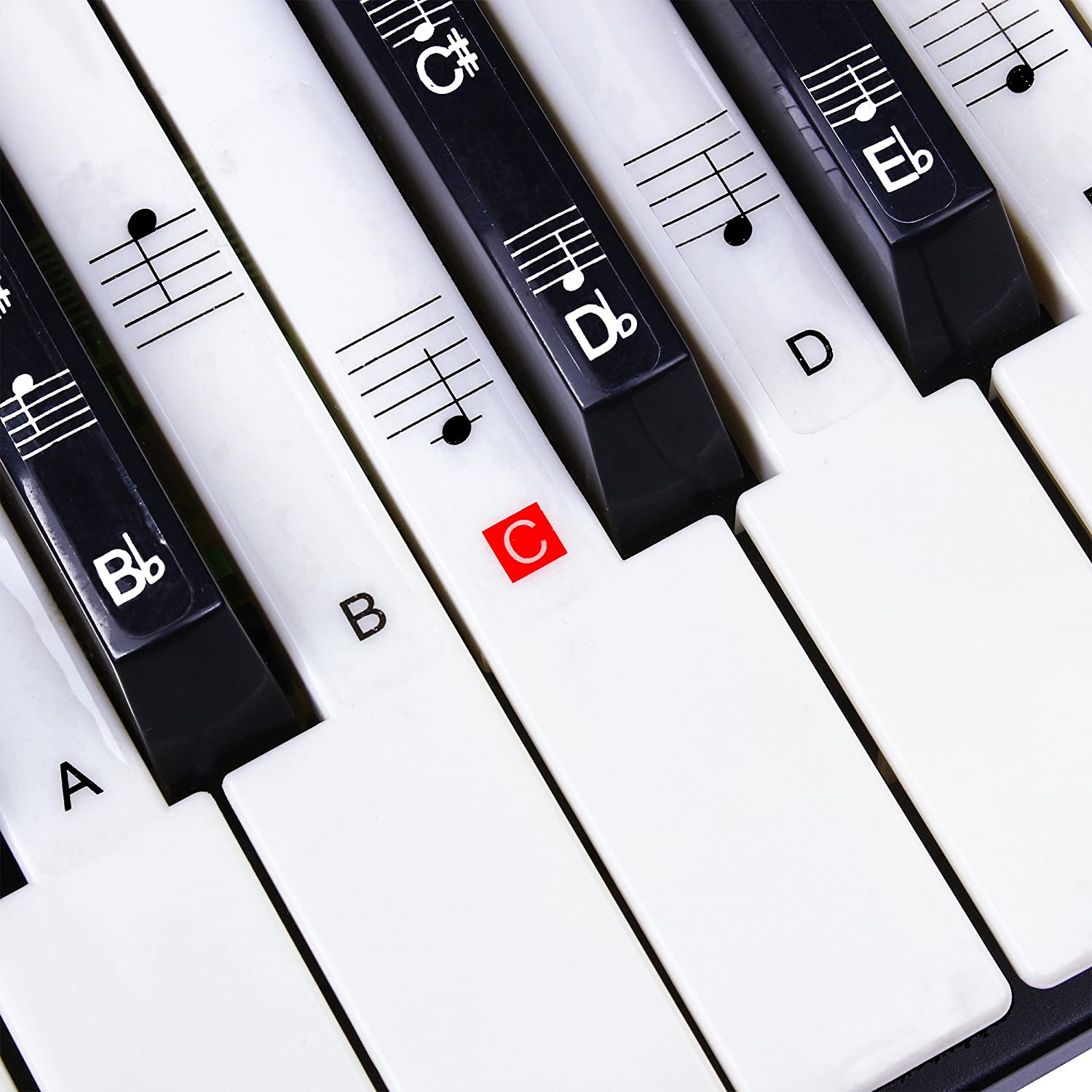 Stickers for Piano, Keyboard Music Note Full Set Stickers for White & Black Keys with Piano User Guide, Transparent and Safe, Gift for Easily Learning Piano Lessons Belonger 4334366107