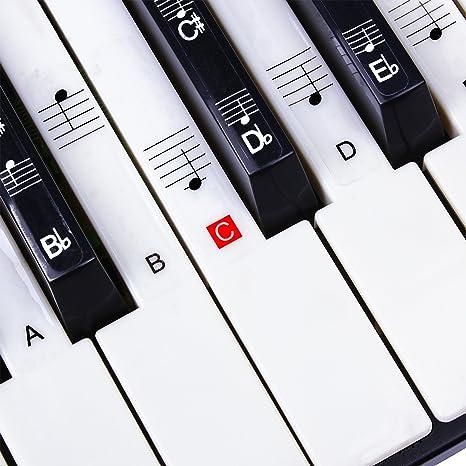 Pegatinas para Piano/Teclados, 49,61,76,88 clave Juego completo