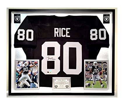 save off 9ccdb 2e7fd Premium Framed Jerry Rice Autographed/Signed Oakland Raiders ...