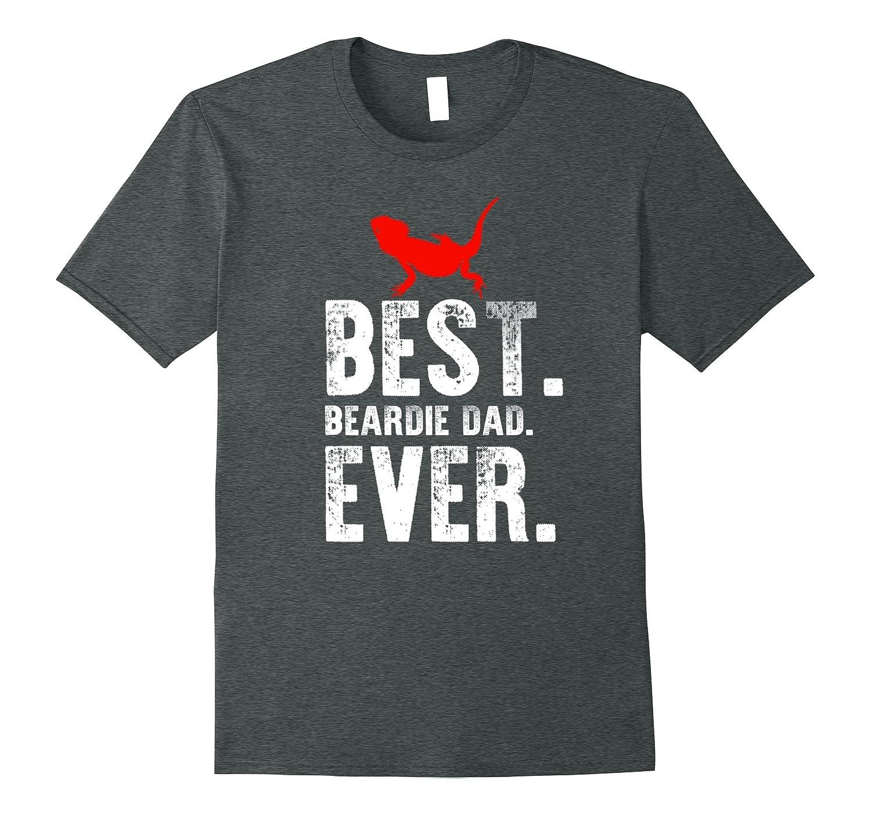 Best Beardie Dad Ever T Shirt -Bearded Dragon Reptile Tees