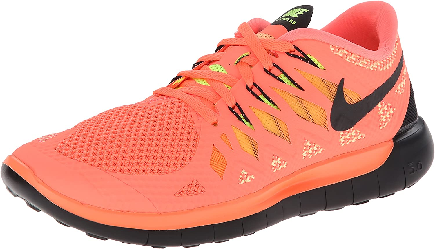 NIKE Womens Free 5.0 2014 – Bright Mango Volt Peach Cream Black