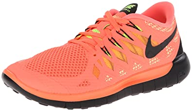 reputable site 7adf8 18b83 NIKE Free 5.0 Ladies Running Shoe, Orange Black, US10.5