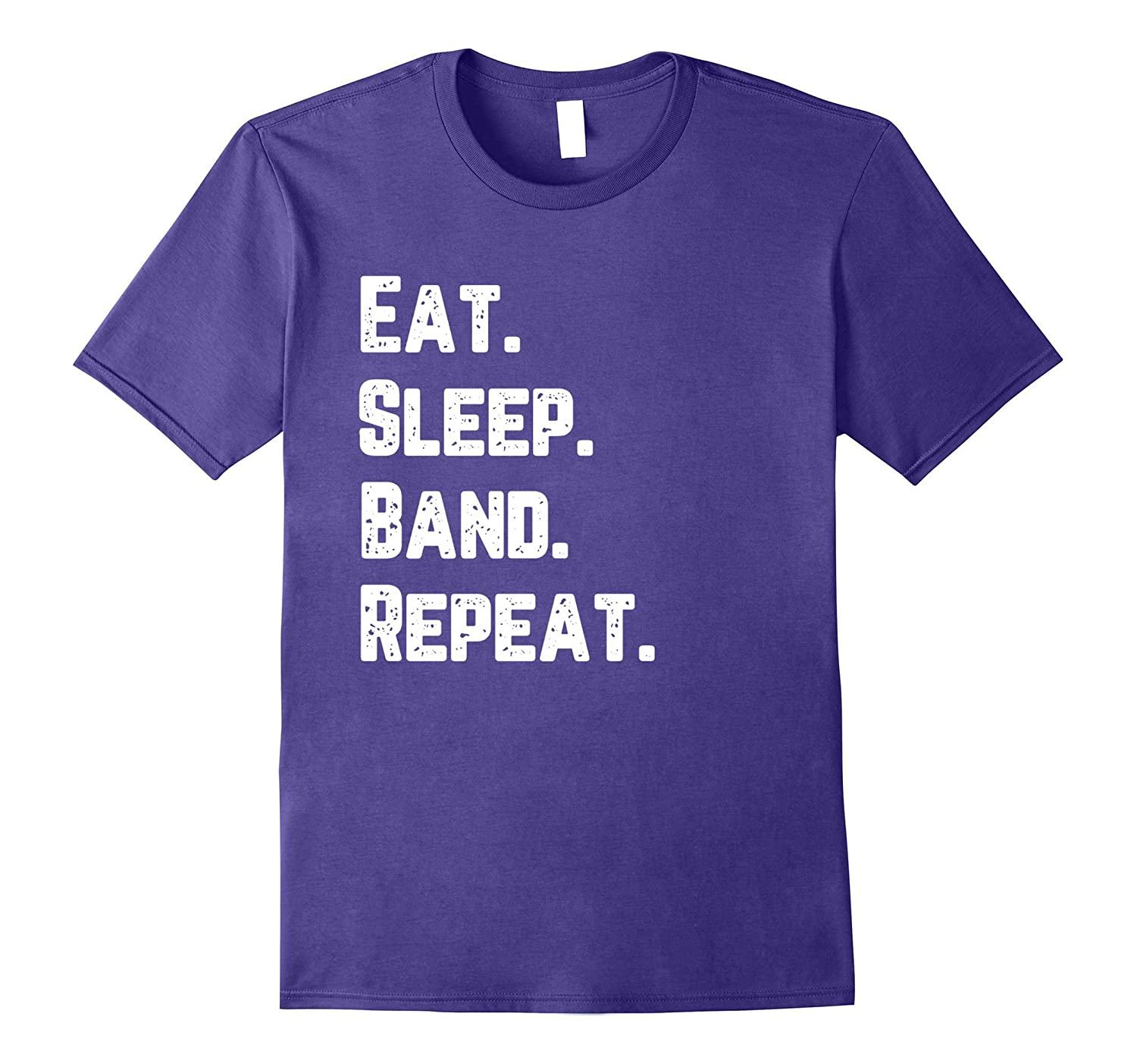 Eat Sleep Band Repeat Music Concert Marching Band T-Shirt-Art