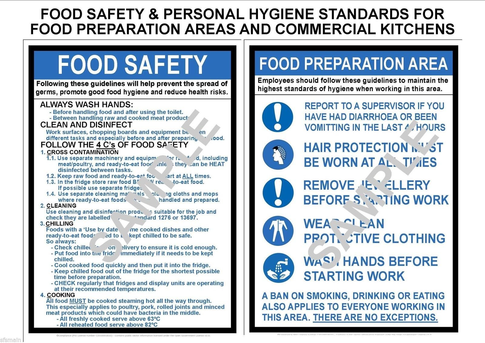 COSHH HEALTH AND /& SAFETY 2 x LAMINATED A3 WORKPLACE POSTERS OFFICE SHOP FACTORY