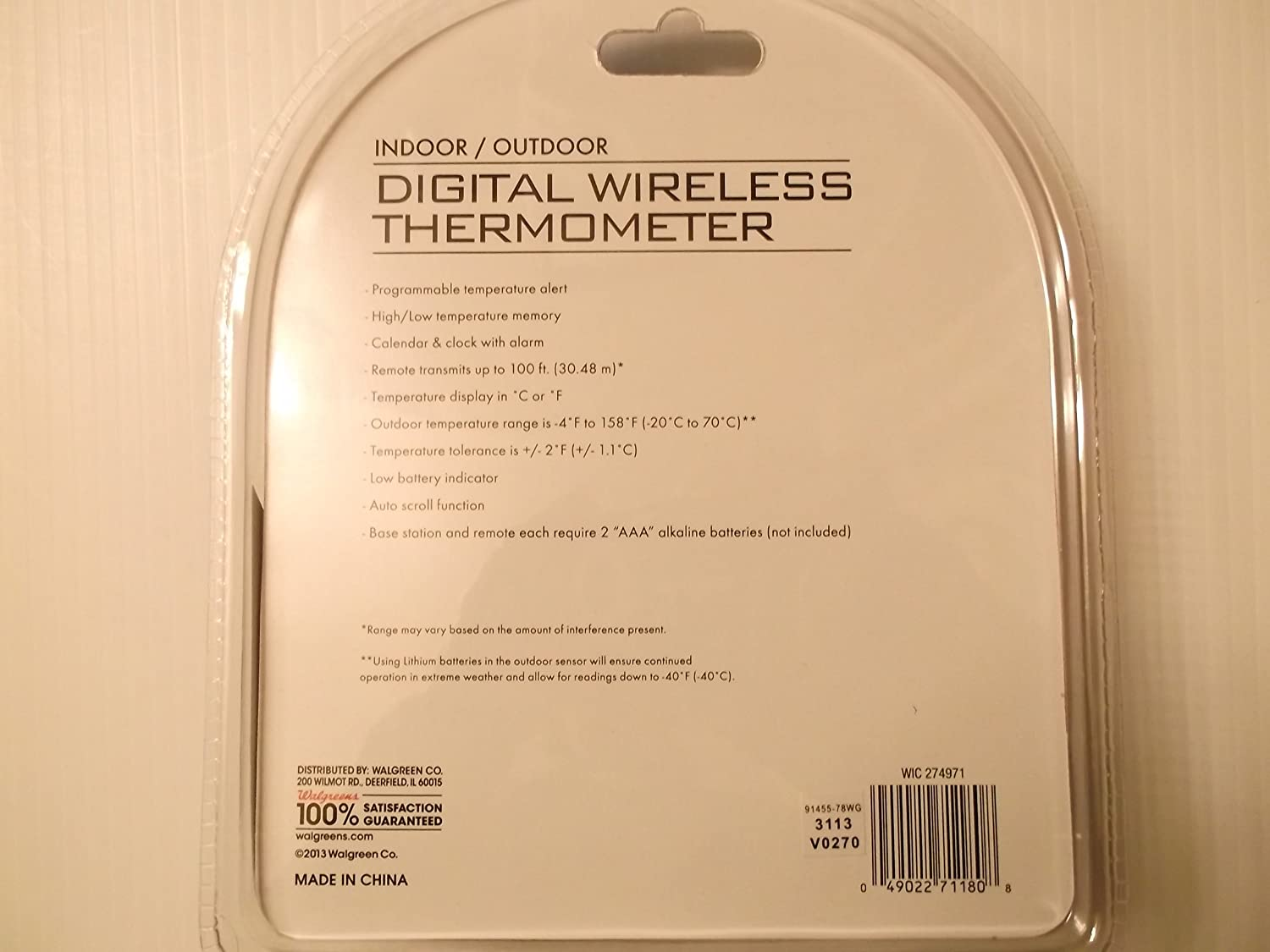 Amazon.com : Living Solutions Indoor/Outdoor Digital Wireless ...