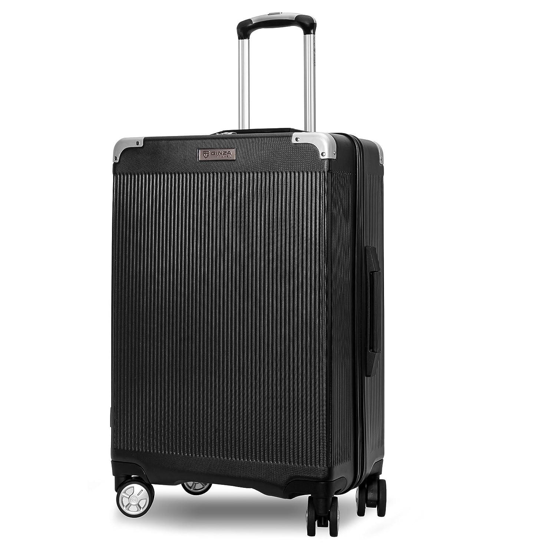 クロース(Kroeus) スーツケース ファスナー式 大型キャスター 8輪 静音 キャリーケース 大容量 軽量 旅行 出張 TSAロック搭載 エンボス加工 傷に強い ソフトなハンドル 取扱説明書付 B078QLG1N1 2XL ブラック ブラック 2XL