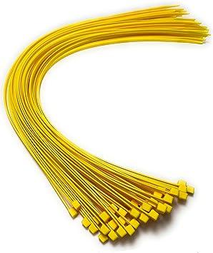 Kabelbinder 450 Mm X 4 8 Mm Extra Lange Kabelbinder Hochwertige Nylon Kabelbinder 50 Gelb Baumarkt