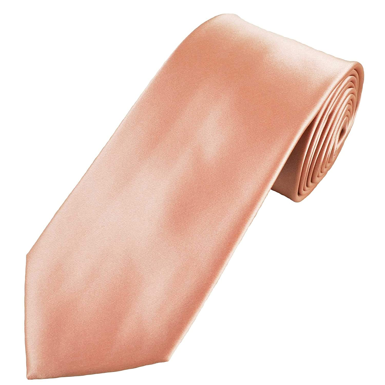 Plain Rose Gold Mens Extra Long Tie