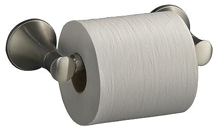 KOHLER K 13434 BN Coralais Toilet Tissue Holder, Vibrant Brushed Nickel