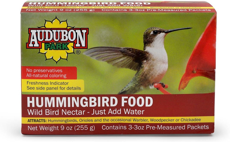 Audubon Park 1661 Hummingbird Food Nectar Powder, Contains (3) 3-Ounce Packets