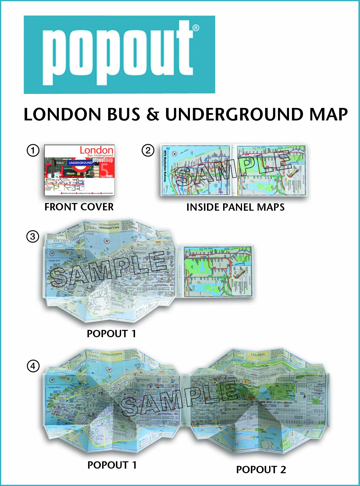 london bus and underground popout map pocket size popup map of london tube and bus routes popout maps popout maps 9781845878139 amazoncom books