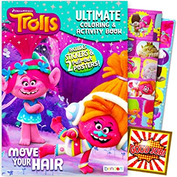 Amazon Dreamworks Trolls Coloring And Activity Book With 2 Posters Stickers Licensed Toys Games