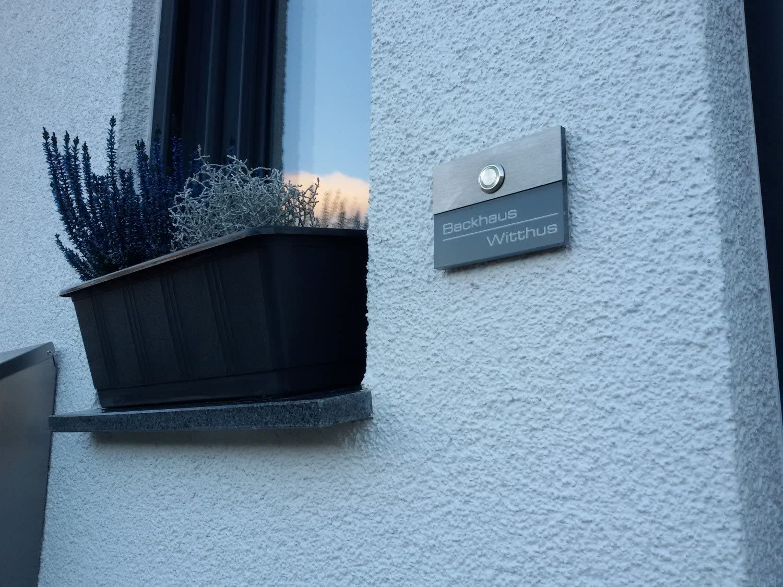 LED /éclairage cloche Plaque de sonnette inox acier inoxydable LED