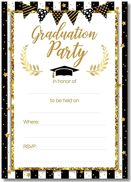 amazon com graduation party invitations cards with envelopes 2018