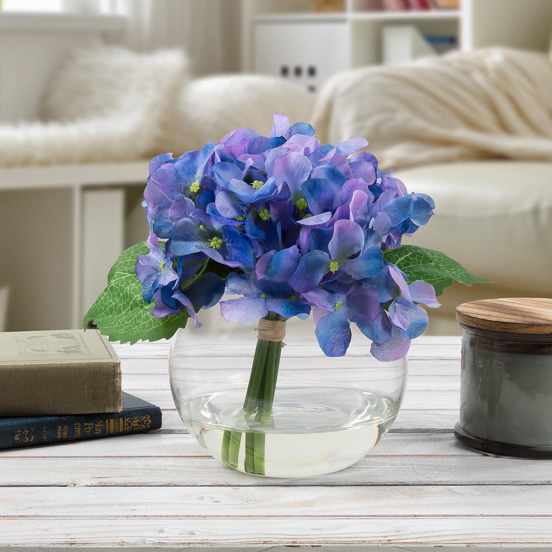Pure Garden 50-138-PURPLE Purple Hydrangea Artificial Floral Arrangement