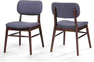 Christopher Knight Home 300014 Colette Fabric Dining Chairs, 2-Pcs Set, Charcoal