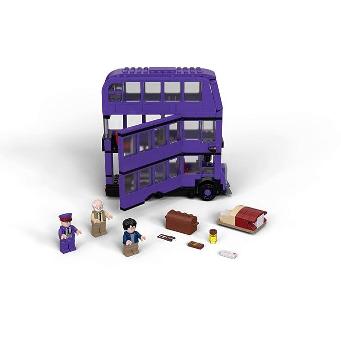 81Vck8J4a3S Incluye 3 minifiguras LEGO Harry Potter (novedad en junio de 2019): Harry Potter, Stan Shunpike y Ernie Prang. Este autobús LEGO de 3 pisos cuenta con un panel lateral abisagrado abatible y un techo desmontable para abrir al máximo las posibilidades de juego. Incluye también una cama que se desliza y una lámpara colgante que se mueve cuando el autobús gira y da un viraje brusco.
