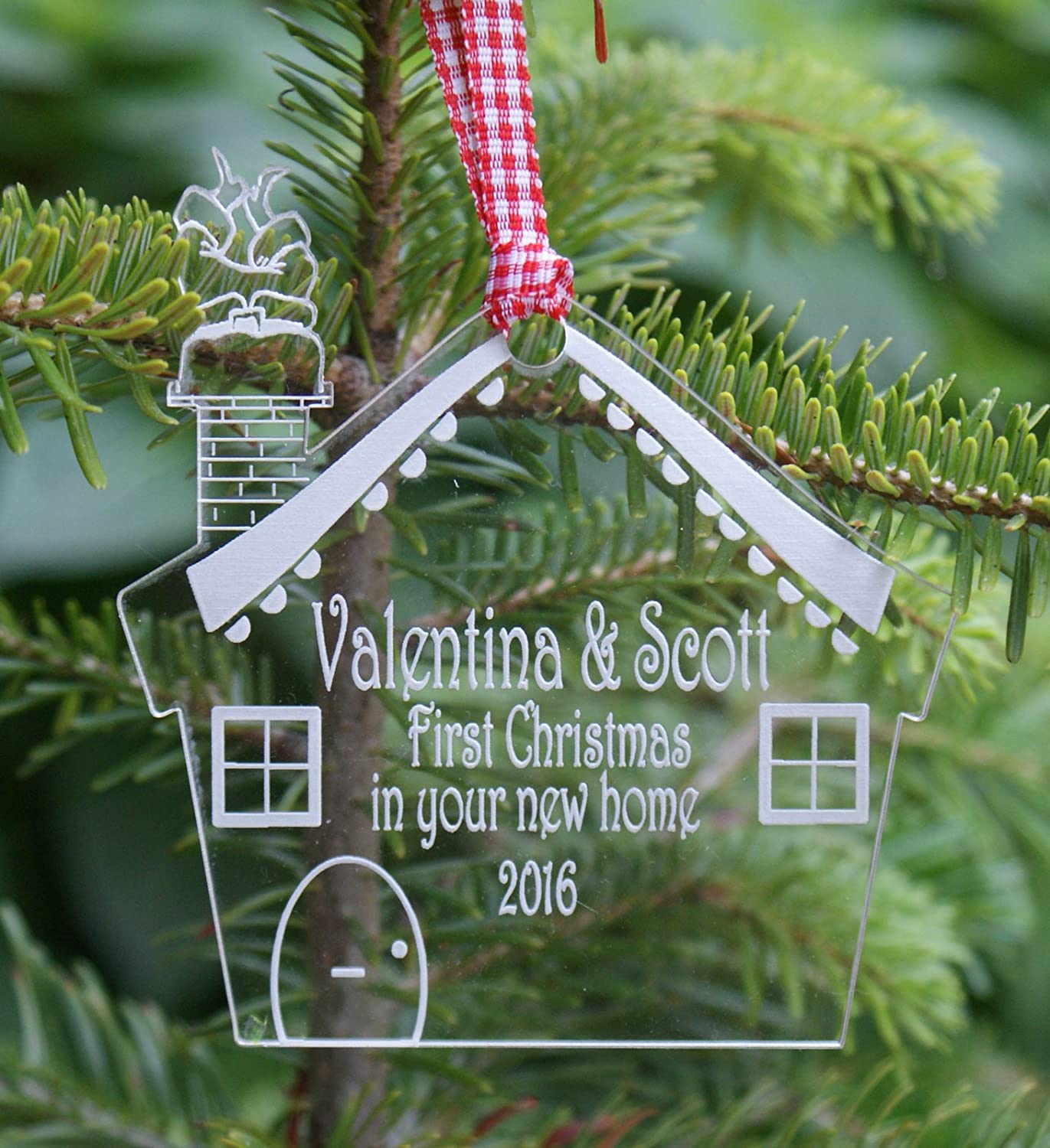 1St Christmas In Our New Home Personalised & Engraved Christmas