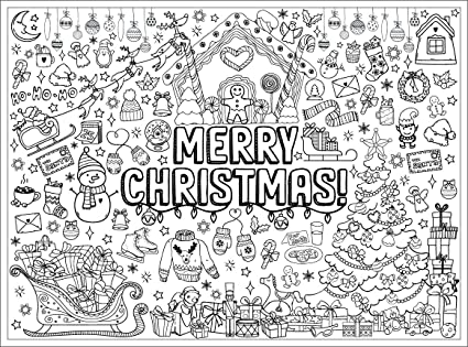 Amazon.com: ABABY.COM Giant Coloring Poster- Great For Family Time, Adults,  Kids, Classrooms - 3' X 4' Life Sized Holiday Wall Poster: Toys & Games