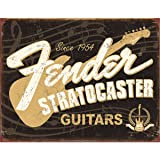 Fender Stratocaster 60th Tin Sign 16 x 13in