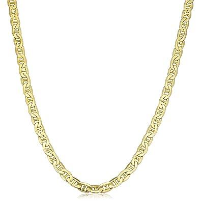 ecbae1da426 Amazon.com  10k Yellow Gold Mariner Link Necklace (5mm