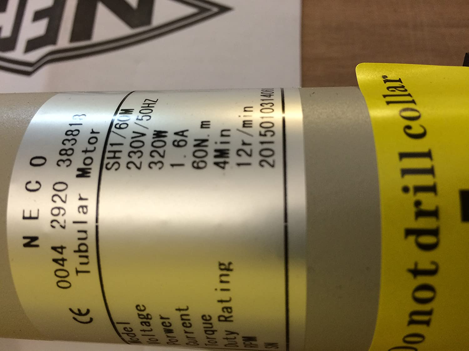 gaixample.org Neco Tubular Motor for Roller Shutters 60Nm with ...