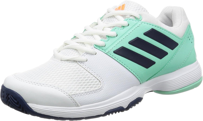 adidas Performance Mujer ´S Tenis Zapatos Barricada Cancha con bb4827 - FTWR Blanco/Misterio Azul/Fácil Verde, 5 UK - 38 EU: Amazon.es: Deportes y aire libre