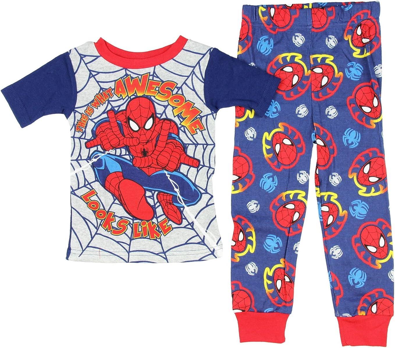 Marvel Spiderman Pajamas for Toddler Boys 2-Piece long sleeve PJ Set Size 3T