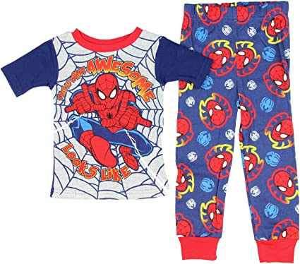 Marvel Spiderman Boys Spider Skills Blue Lounge Pajama Pants