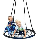 "ZENY 40"" Children's Tree Web Swing Playground Platform Net Swing Nylon Rope detachable"