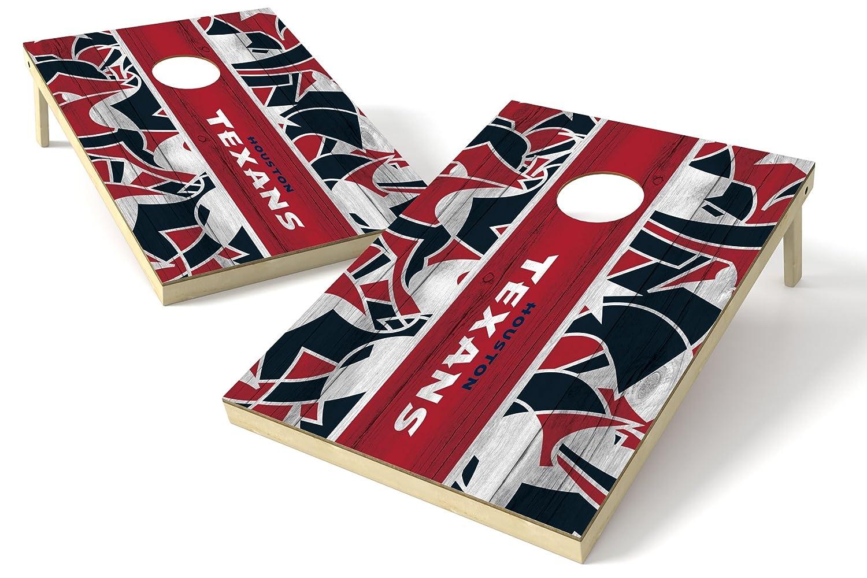 PROLINE 2'x3' NFL Houston Texans Cornhole Set - Millennial Stripe Design