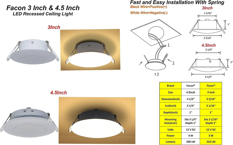 5 x 12 V encastré 20 W G4 Lampe caravane camping-car bateau Ceiling Downlight