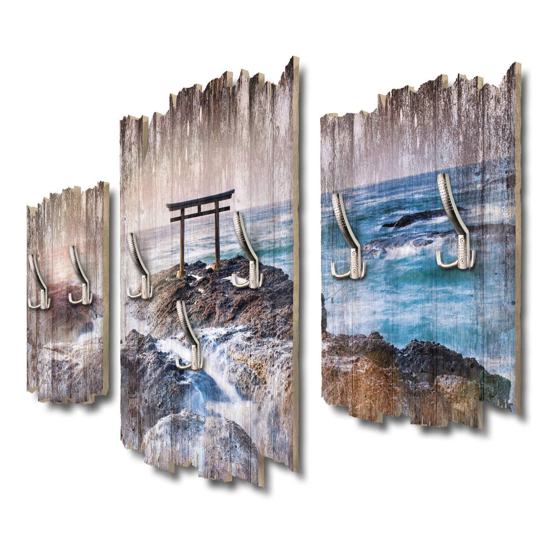 Kreative Feder Japanisches Torii Tor Designer Wandgarderobe Flurgarderobe Wandpaneele 95 x 60 cm aus MDF DTGH067