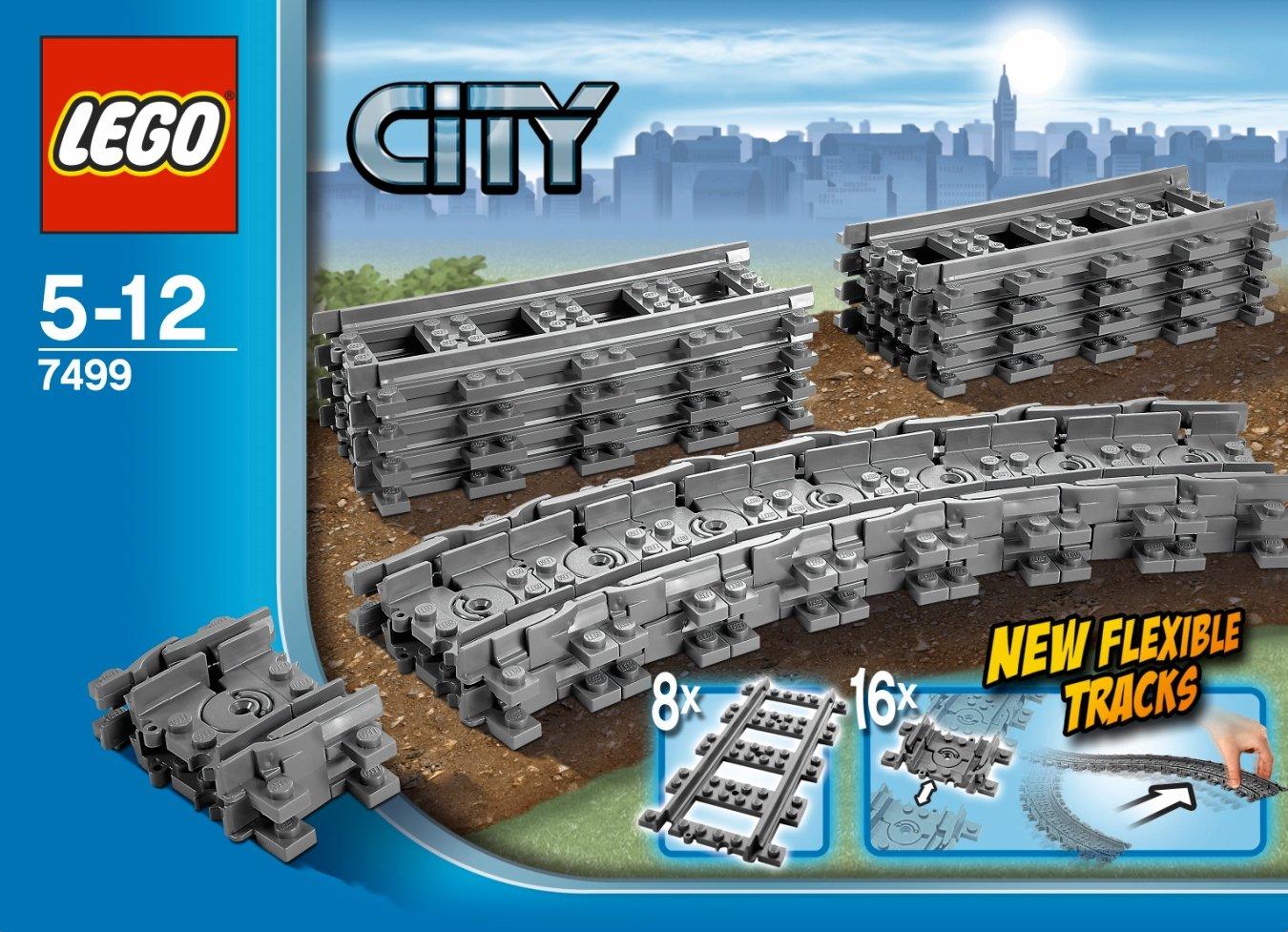LEGO City Flexible Tracks 7499 Train Toy Accessory 4609430