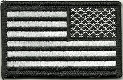 Amazon.com  Tactical Reverse USA Flag Patch - Black   White  Home ... e2bd2da7584