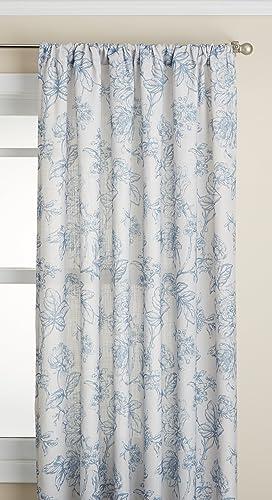 Lorraine Home Fashions Olivia Curtian Window Panel, 52 inch x 84 inch , Light Blue