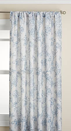 Lorraine Home Fashions Olivia Curtian Window Panel, 52 inch x 84 inch , Light Blue