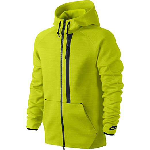 dddab948db42 Amazon.com  Nike The Tech Super 1MM Full-Zip Men s Hoodie Neon Green ...