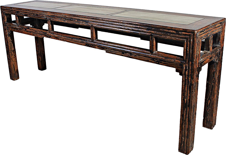 Sarreid SA-ON9 Alter Table with Zinc Top Panel, Black: Amazon.co